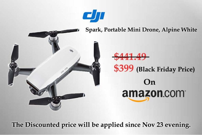 Amazon (DJI Spark, Portable Mini Drone, Alpine White Ad.)