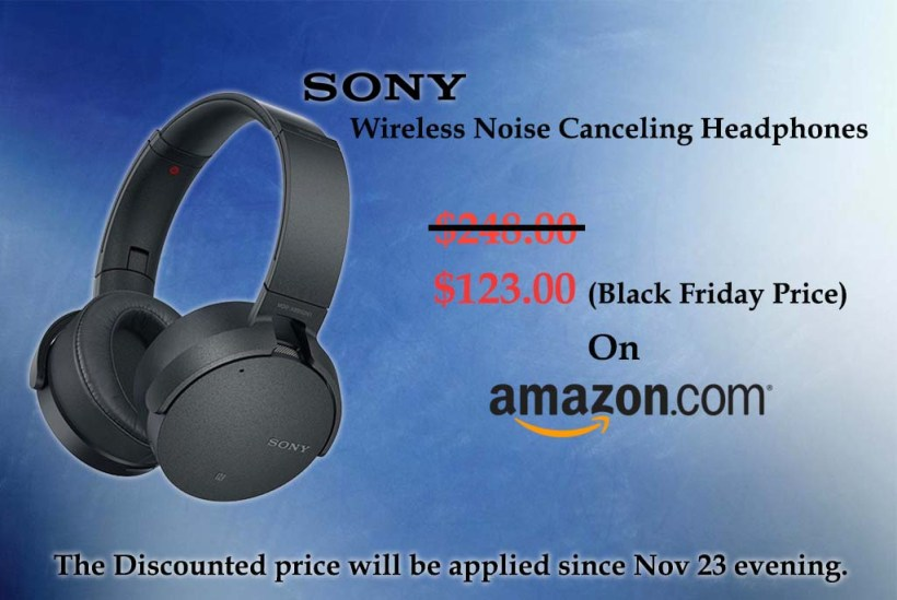 Amazon (Sony Noise Canceling Headphones Ad.)