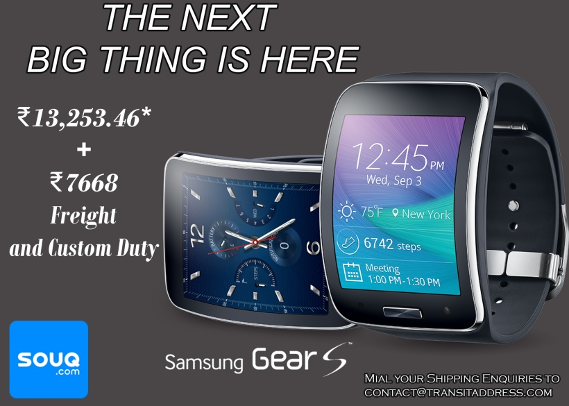 Samsung Gear S-Blue Black